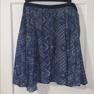 Blue and white circle skirt